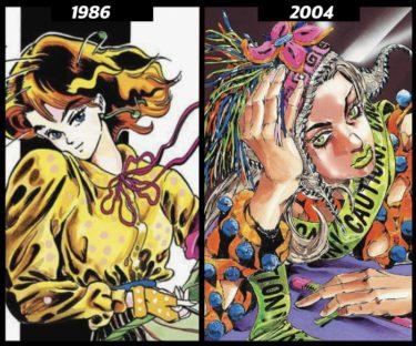 【武装ポーカーからジョジョメノンまで】荒木飛呂彦先生の38年間の絵柄の変化を追う