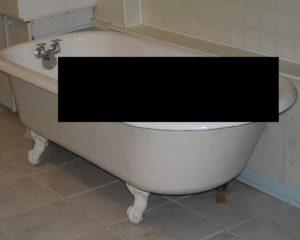 SCP-4517が発見された浴槽の写真