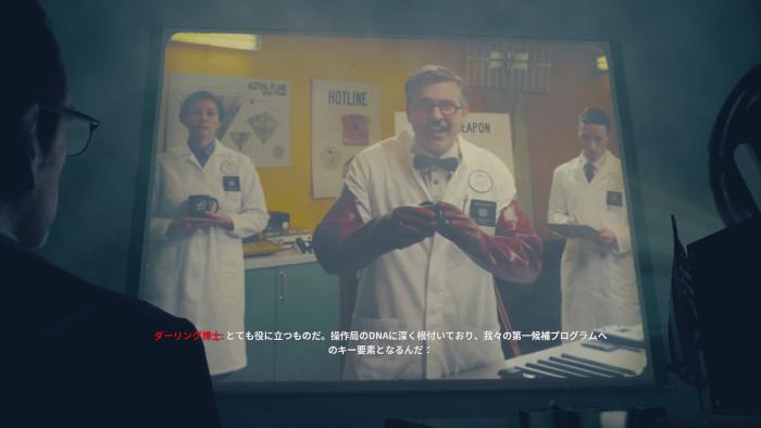 テレビ映像に映るダーリング博士