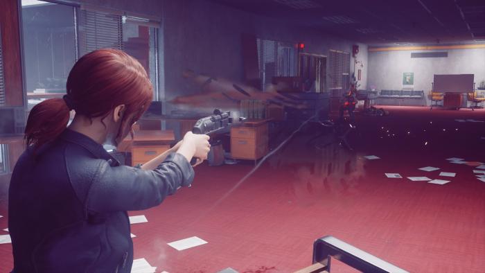 サービスウェポンで狙撃するジェシー