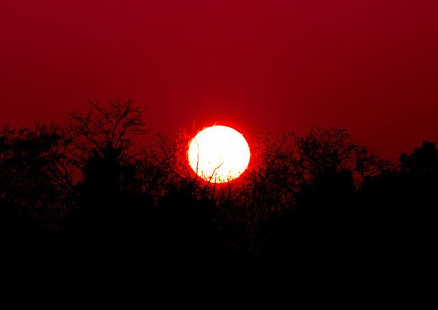 非常に明るい太陽の画像
